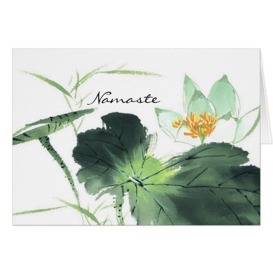 POND LOTUS PEACE l Chinese Brush Painting Art Card