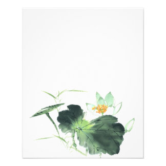 POND LOTUS PEACE l Chinese Brush Painting Art Flyer
