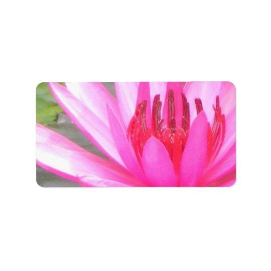Pond Lotus Tranquillity Namaste Blank Address Label