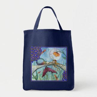 Pond Mermaid Tote Bag by Molly Harrison