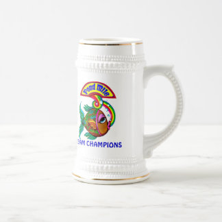 Pond Mile 4 Team Champions Logo Beer Stein