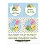 Pond Pals Duck Baby Shower Cupcake Topper Neutral Postcard