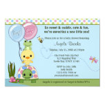 Pond Pals Duck Baby Shower Invitation Frog #2 13 Cm X 18 Cm Invitation Card