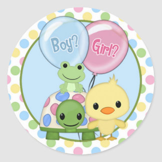 Pond Pals Duck Baby Shower sticker PPL-N#3 turtle