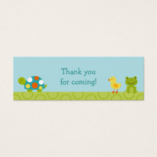 Pond Pals Frog Turtle Party Favor Gift Tags Mini Business Card