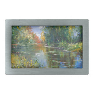Pond Rectangular Belt Buckle