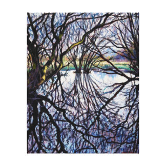 Pond Reflections 2009 Canvas Prints