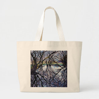 Pond Reflections 2009 Large Tote Bag
