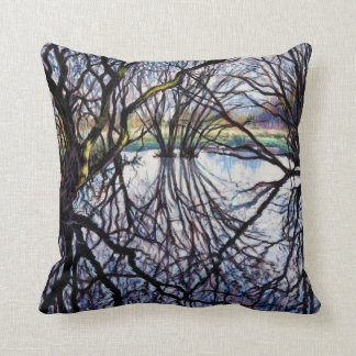Pond Reflections 2009 Throw Pillow