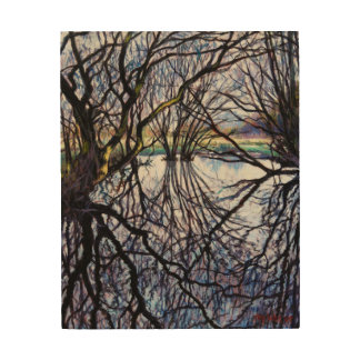 Pond Reflections 2009 Wood Print