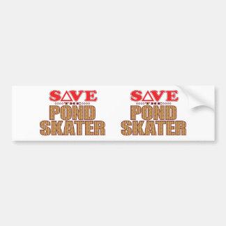 Pond Skater Save Bumper Sticker