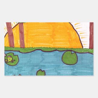Pond Rectangular Sticker