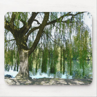 Pond through the Weeping Willow Tree Mousepad