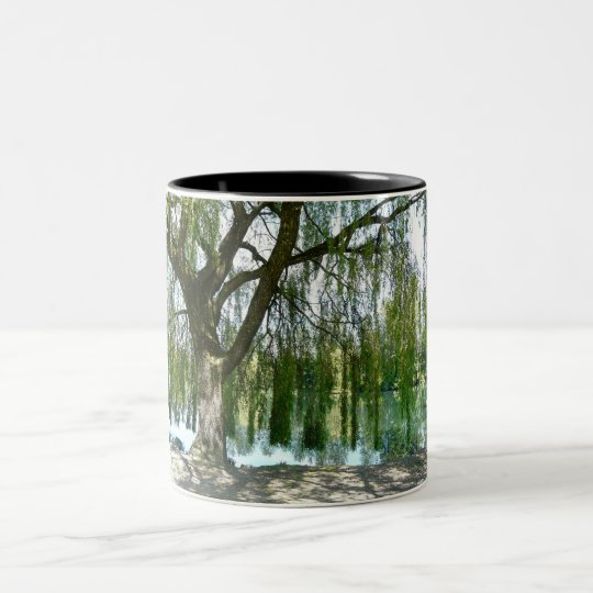 Pond through the Weeping Willow Tree Two-Tone Coffee