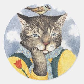 Pondering Cat Stickers