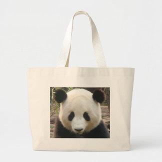 Pondering Panda Large Tote Bag