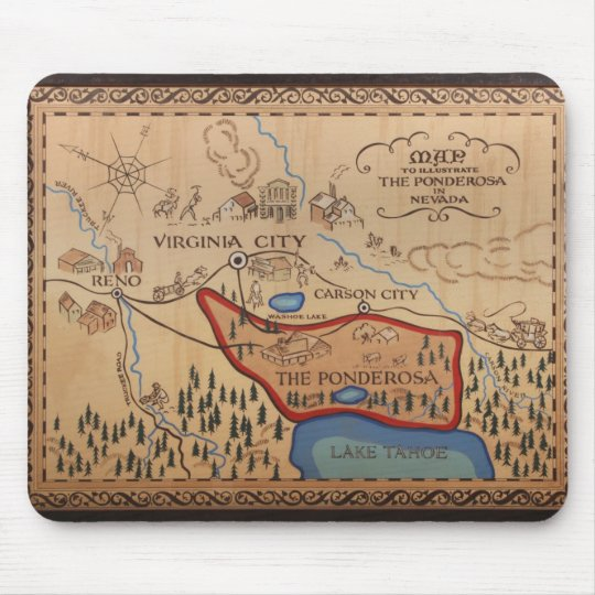 PONDEROSA MAP MOUSE PAD