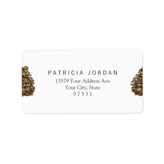 Ponderosa Pine Cone Address Label