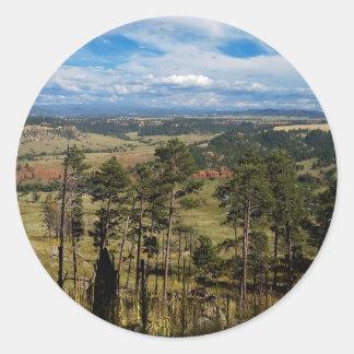 Ponderosa Pine from Devils Tower Round Sticker