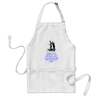 Pondlyfe apron with joke & image
