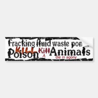 ponds kill bumpersticker bumper sticker