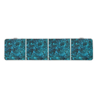 Pong Table with  aqua marine teal water pattern