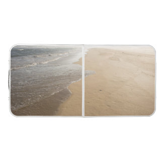 Pong Table with Ocean Beach Scene
