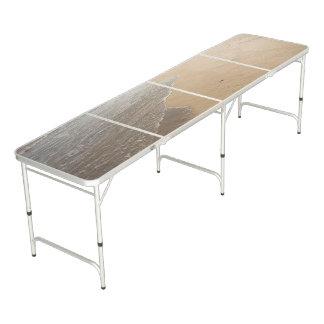 Pong Table with Ocean Beach Scene