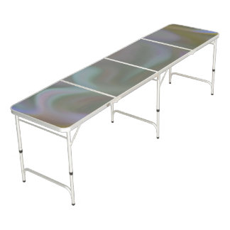 Pong Table with Tie Dye Colour Theme