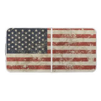 Pong Table with vintage American USA flag