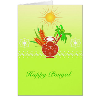 Pongal - South Indian festival Card