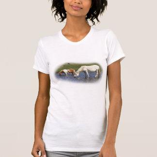 Ponies At Watering Hole ladies petite t-shirts