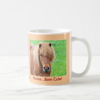 Ponies - Born Cute! Basic White Mug