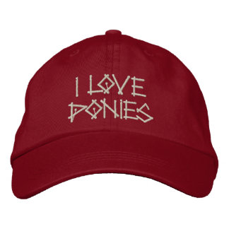 PONIES EMBROIDERED HAT