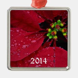 Ponsettia Christmas Ornament
