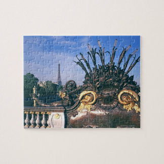 Pont Alexandre III Bridge and Eiffel Tower. Jigsaw Puzzle