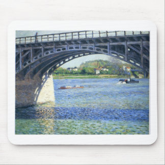 Pont d'Argenteuil by Gustave Caillebotte Mouse Pad