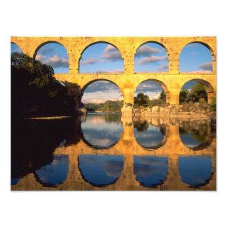 Pont du Gard, Gardon River, Gard, Languedoc, Photo Art