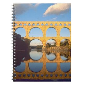 Pont du Gard, Gardon River, Gard, Languedoc, Spiral Note Book