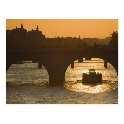 Pont Neuf, Seine, sunset, Paris, FranceMusee Post Card
