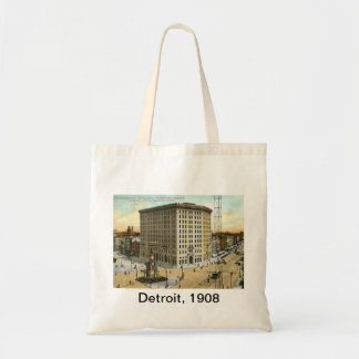 Pontchartrain Hotel, Detroit MI 1908 Vintage Budget Tote Bag
