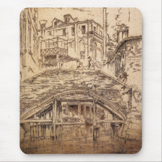 Ponte del Piovan by James Abbott McNeill Whistler Mouse Pad