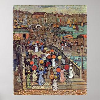 Ponte della Paglia, Venice by Maurice Prendergast Poster