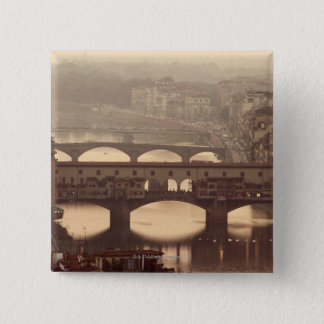 Ponte Vecchio and Arno 15 Cm Square Badge