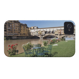 Ponte Vecchio and table along Arno Rive iPhone 4 Case