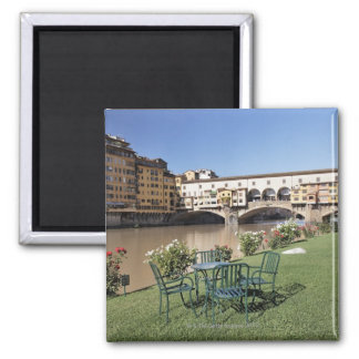 Ponte Vecchio and table along Arno Rive Magnet