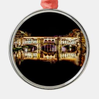 Ponte Vecchio by night Christmas Ornament