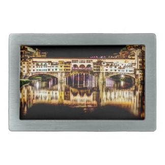 Ponte Vecchio by night Rectangular Belt Buckle