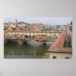 Ponte Vecchio, Firenze, Italia Poster