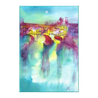 Ponte Vecchio -Florence Stretched Canvas Print